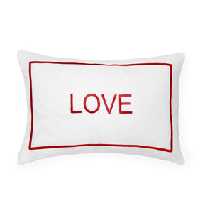LOVE Decorative Pillow, Red