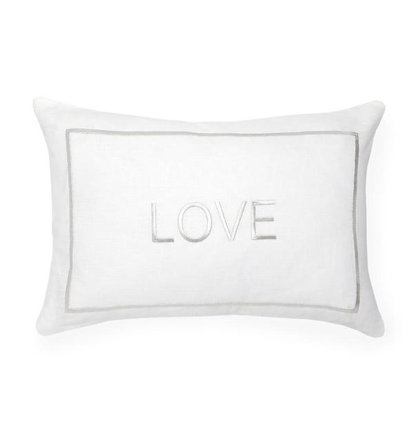 LOVE Decorative Pillow, Silver