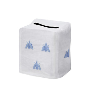 Bees Tissue Box Cover, Blue