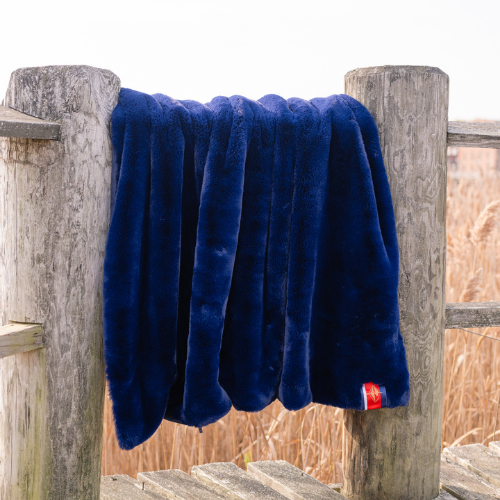 Luxe Original Navy Mink Throw