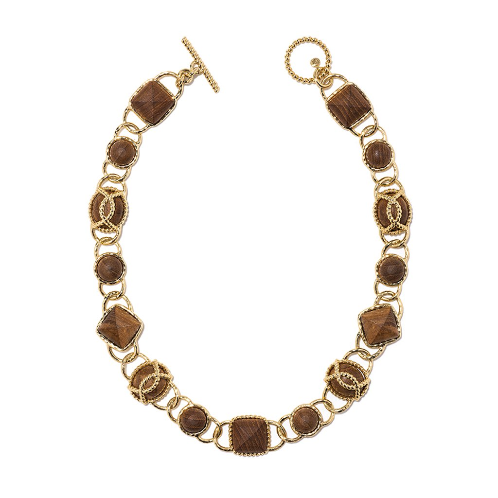 Blandine Necklace in Teak