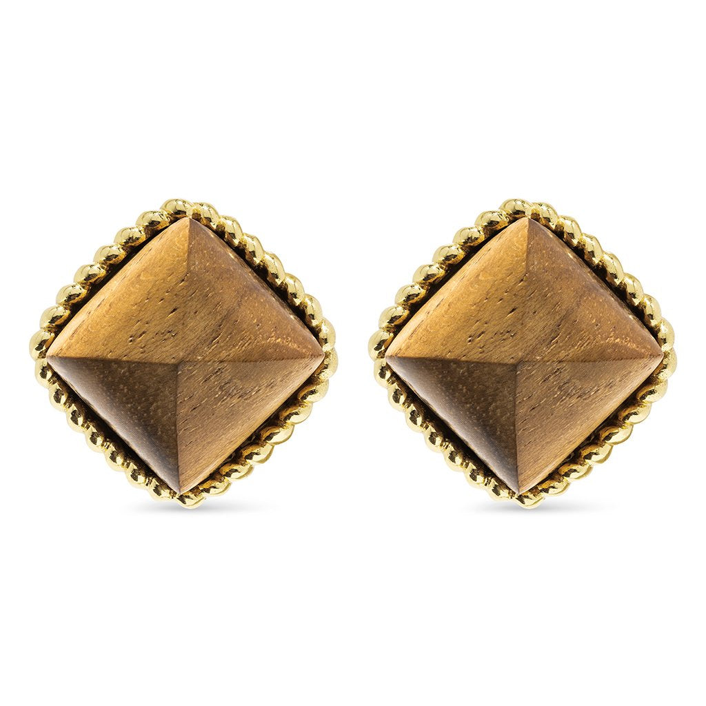 Blandine Clip Earrings in Teak