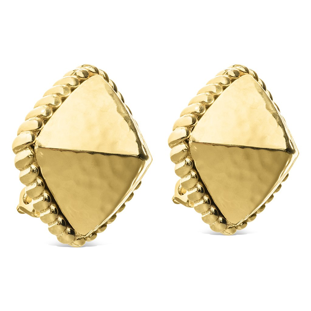 Blandine Clip Earrings in Gold
