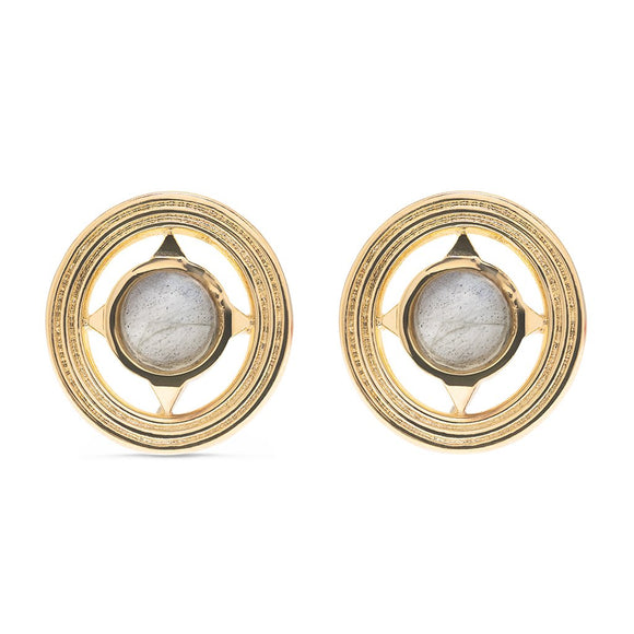 Monique Petite Stud Labradorite Earrings