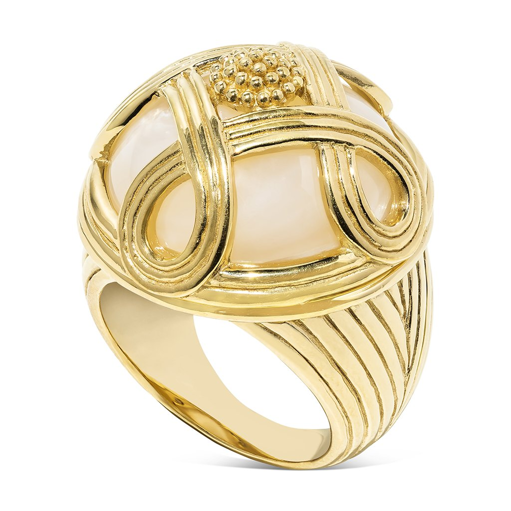 Monique Cocktail Ring, MOP