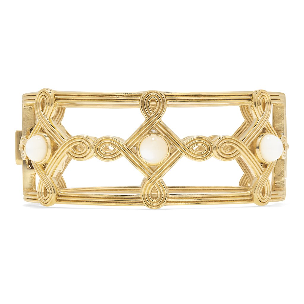 Monique Compass Hinged Bangle, MOP