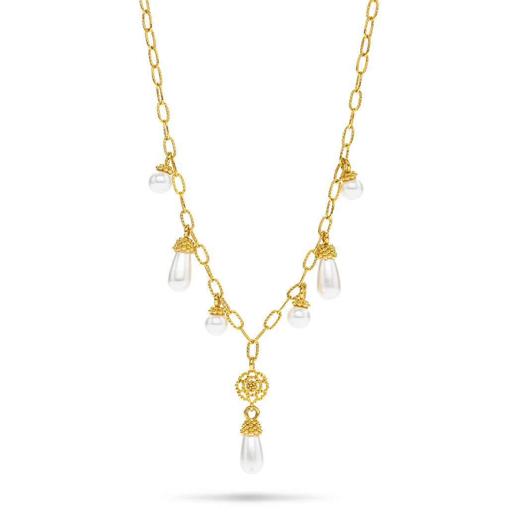 Capucine Drop Necklace, Pearl