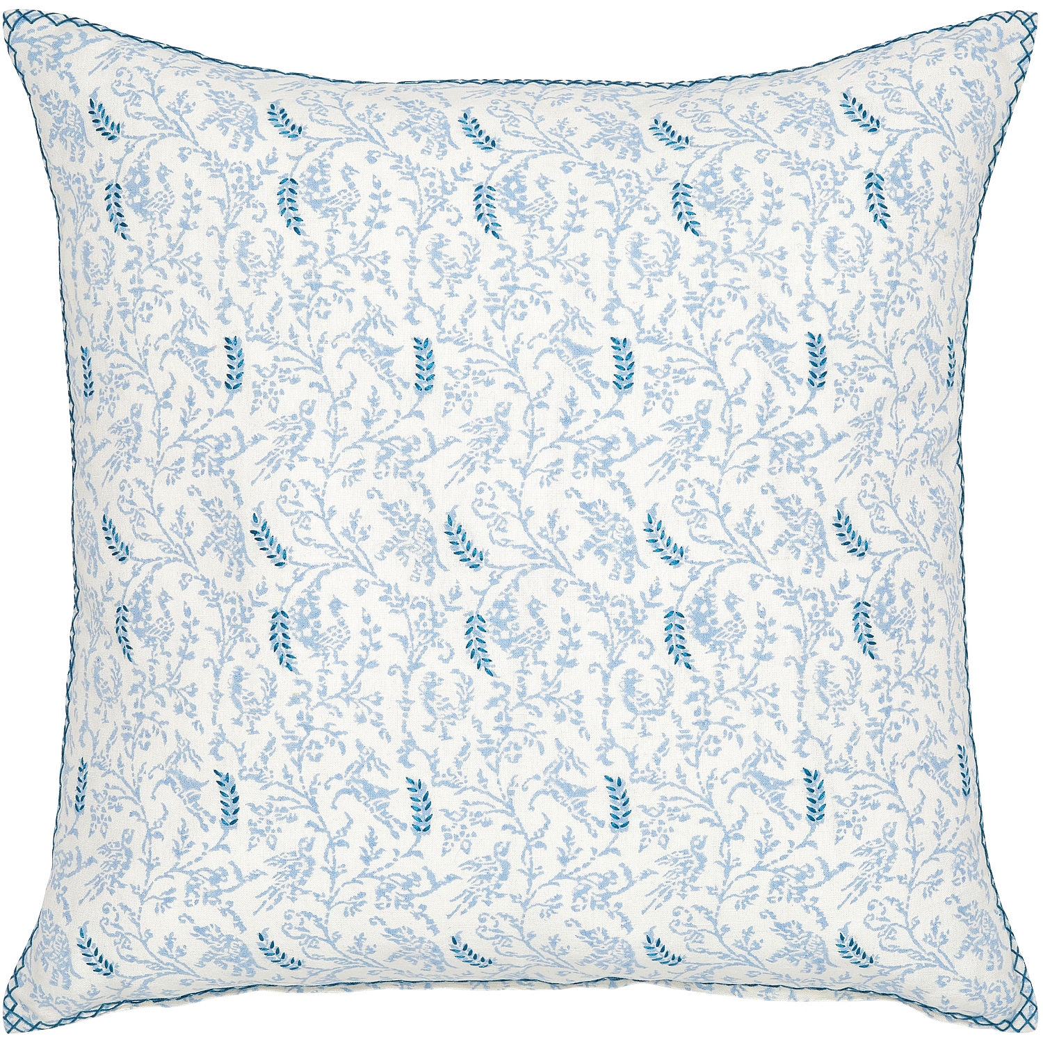 Madhavi Light Indigo Decorative Pillow w/ Insert