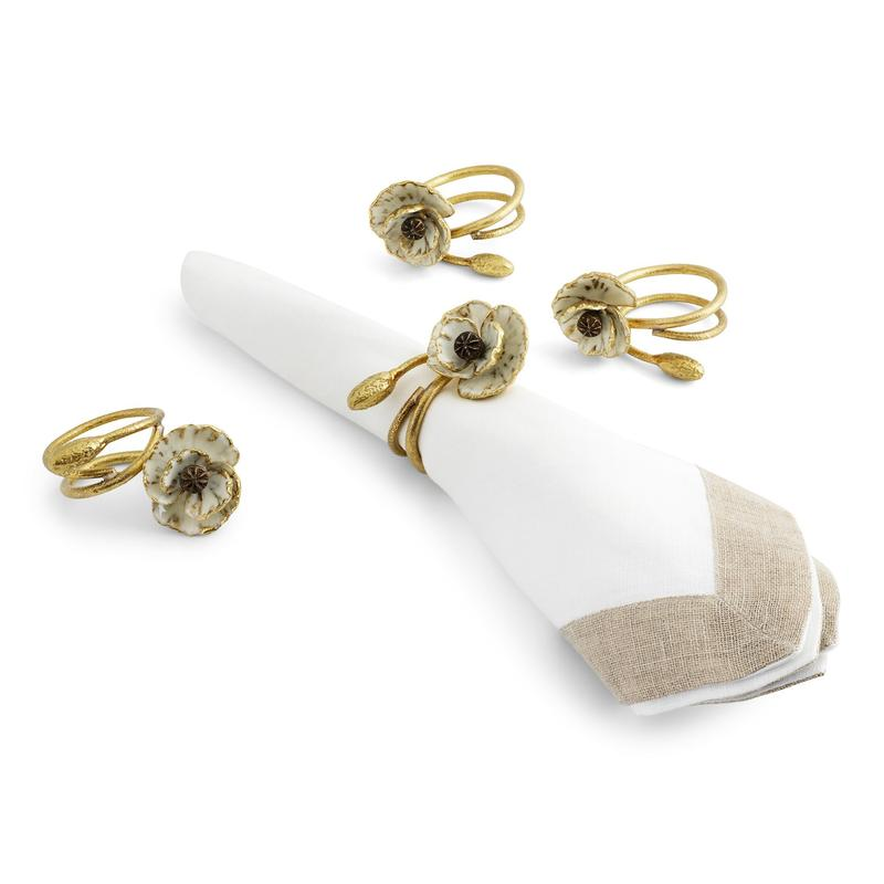 Anemone Napkin Rings, Set of 4