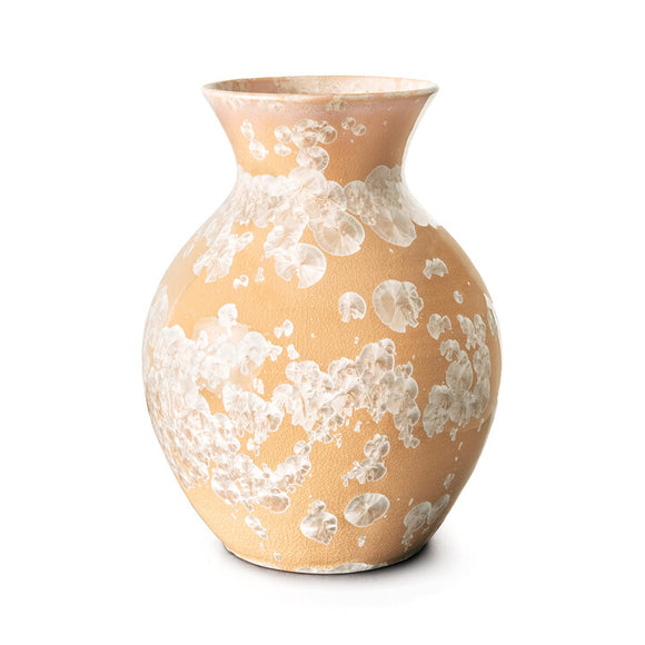 Curio Crystalline Vase- L, Sunset