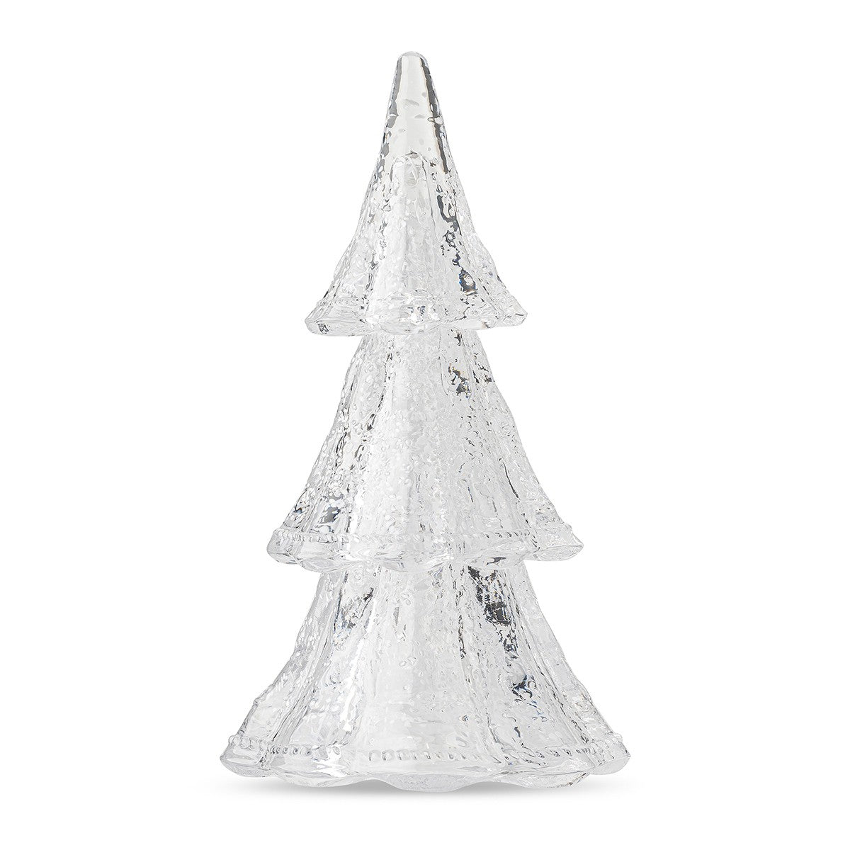 B&T Clear/White Medium Tree Set of 3