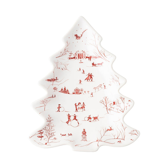 Small Tree Tray CE Winter Frolic Ruby