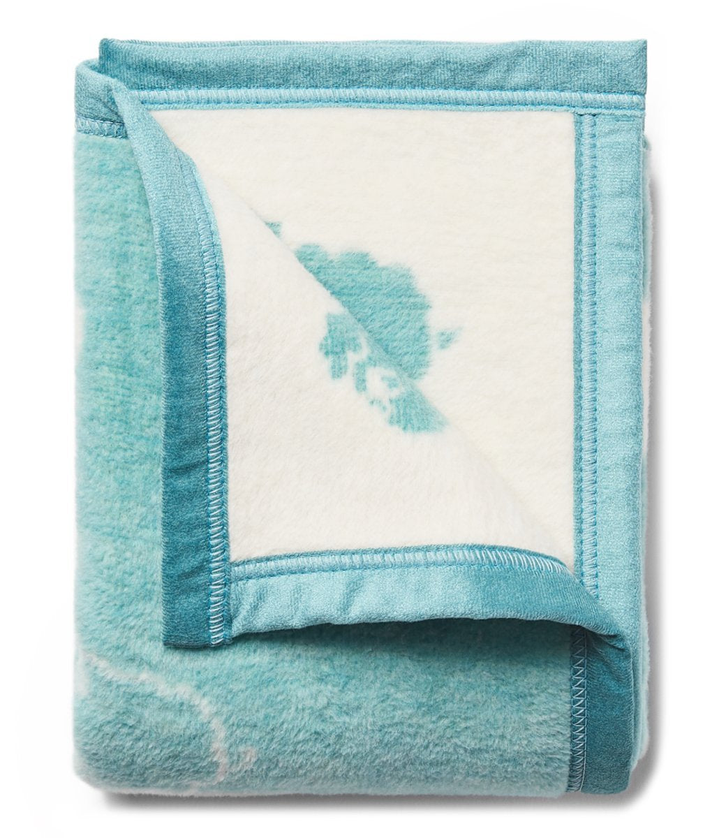 Counting Sheep Seafoam Mini Blanket