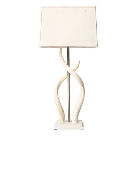 Upright Double Kudu Inner Horn Lamp