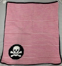 Skull N Stripes Blanket, Girl Pink