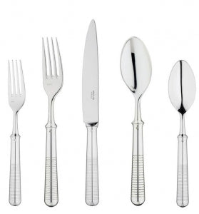 Transat 5pc Placesetting, Silver Plate
