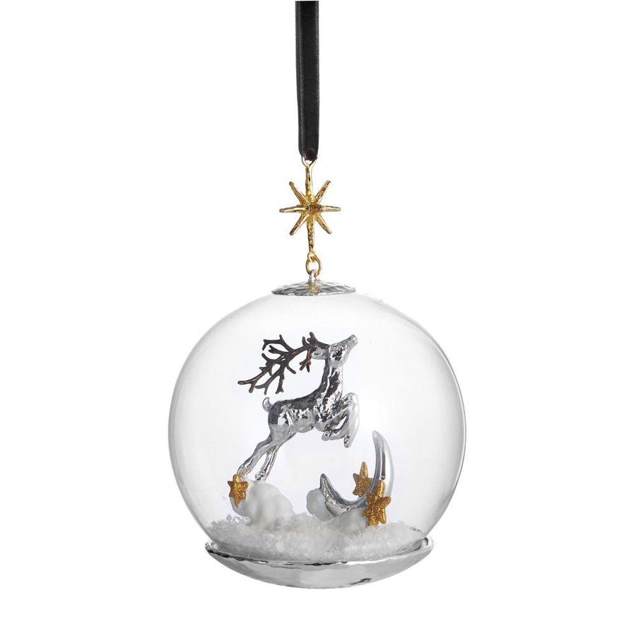 Reindeer Snow Globe Ornament