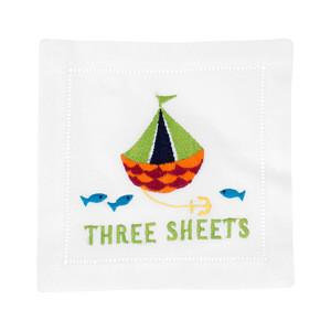 Three Sheets Cocktail Napkins, S/4