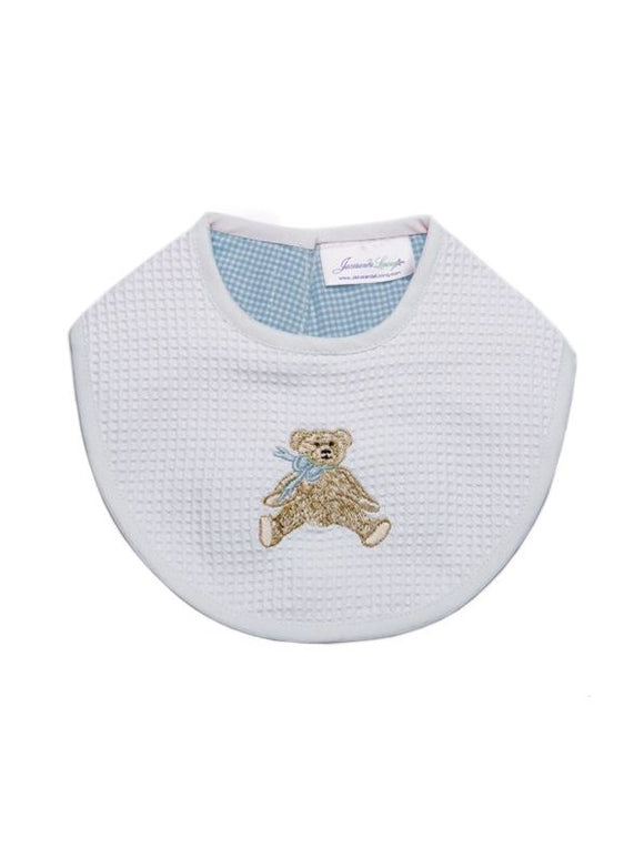 Waff Bib, Blue Bow Teddy