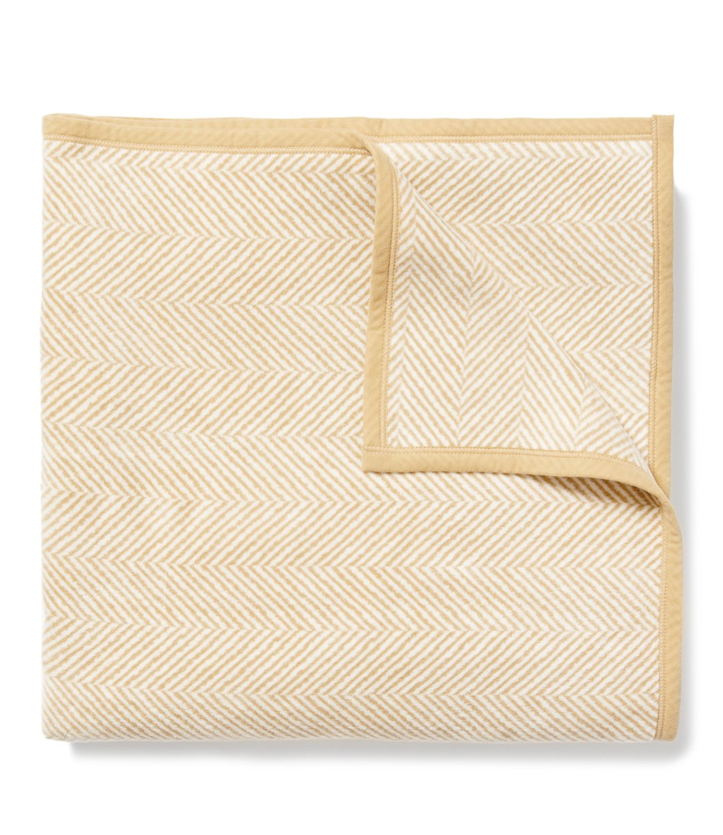 Harborview Herringbone Classic Blanket Beige