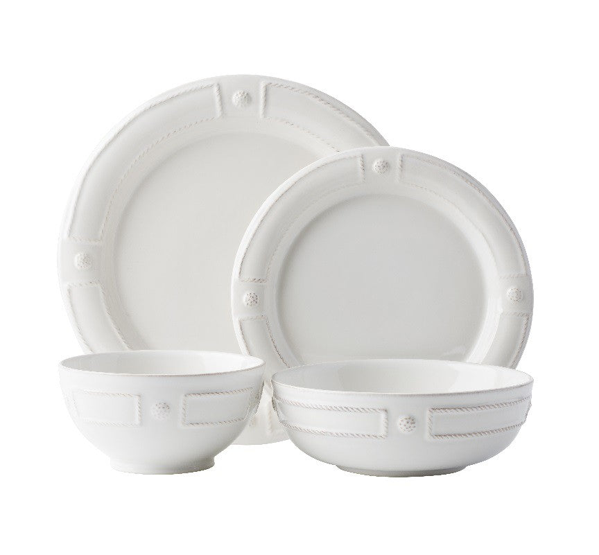 B & T French Panel Whitewash Dinnerware