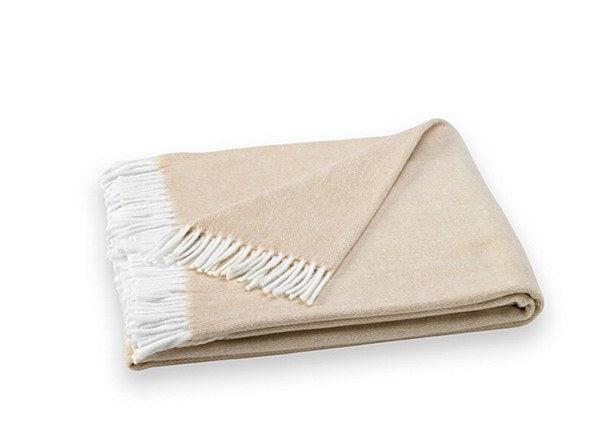 Herringbone Throw, Ecru