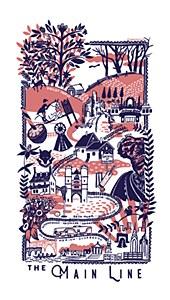 Main Line Tea Towel