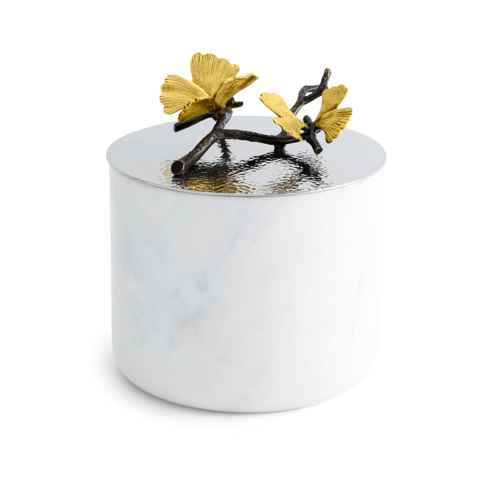 Butterfly Ginkgo Large Marble Candle