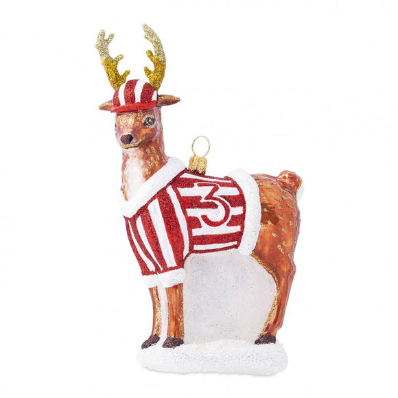 CE Donner Baseball Glass Ornament