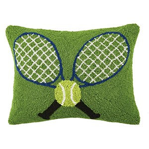 Crossed Tennis Rackets Hook Pillow
