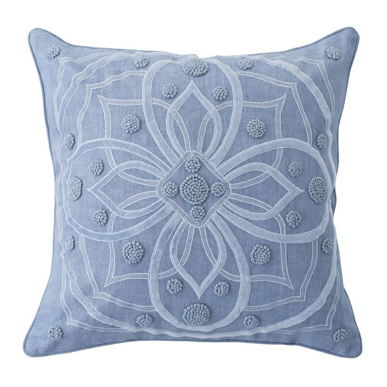 "Berry & Thread 22"" Pillow, Chambray"