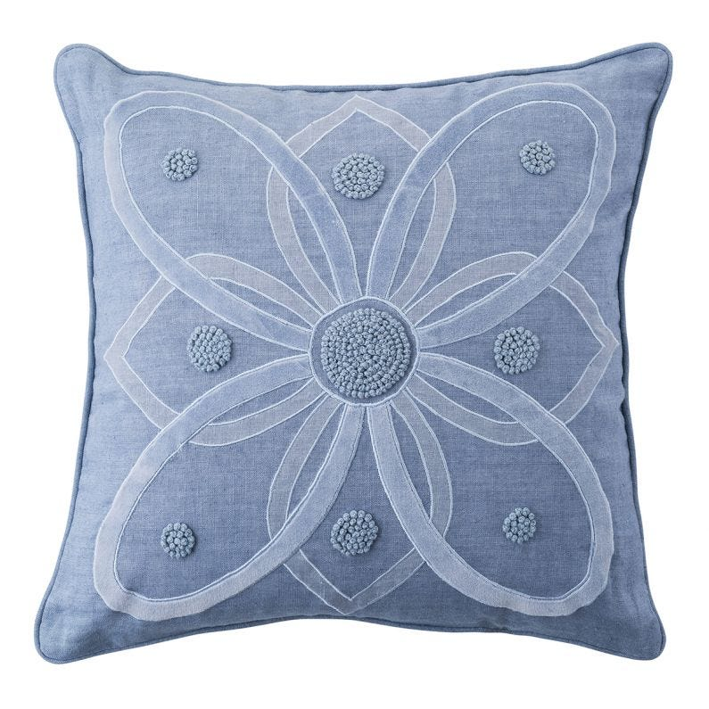 "Berry & Thread 18"" Pillow, Chambray"