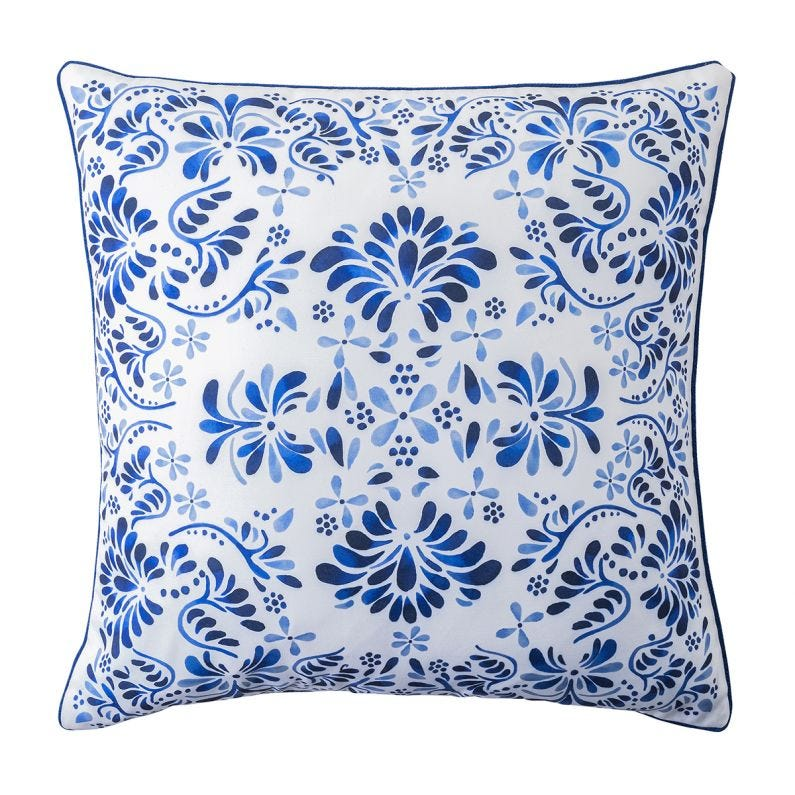 "Iberian Journey 22"" Pillow, Indigo"