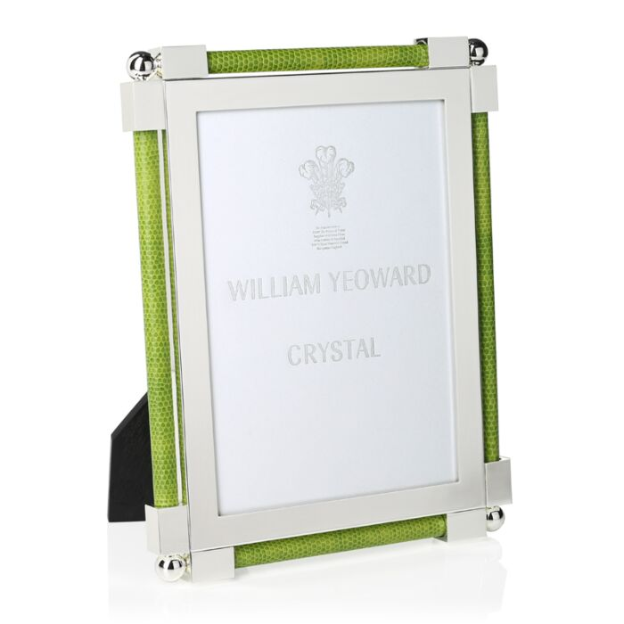 "Shagreen Lime Green Frame 5"" x 7"""
