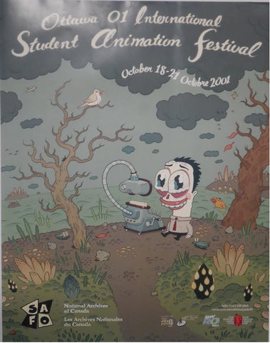 OIAF 2001 Poster- designed by David Cooper