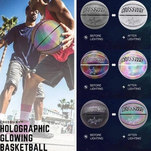 【Buy 2 Free Shipping 】Holographic Glowing Reflective Basketball