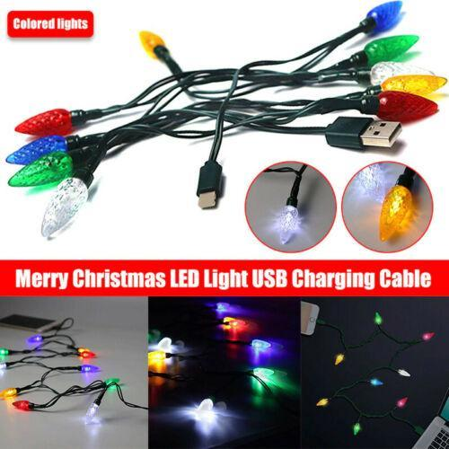 Christmas Lights Phone Charging Cable