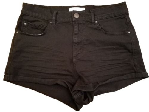 0ca258e3f0 Garage Jrs. Women's High Rise Black Jean Shorts Size 5   The Harley Project