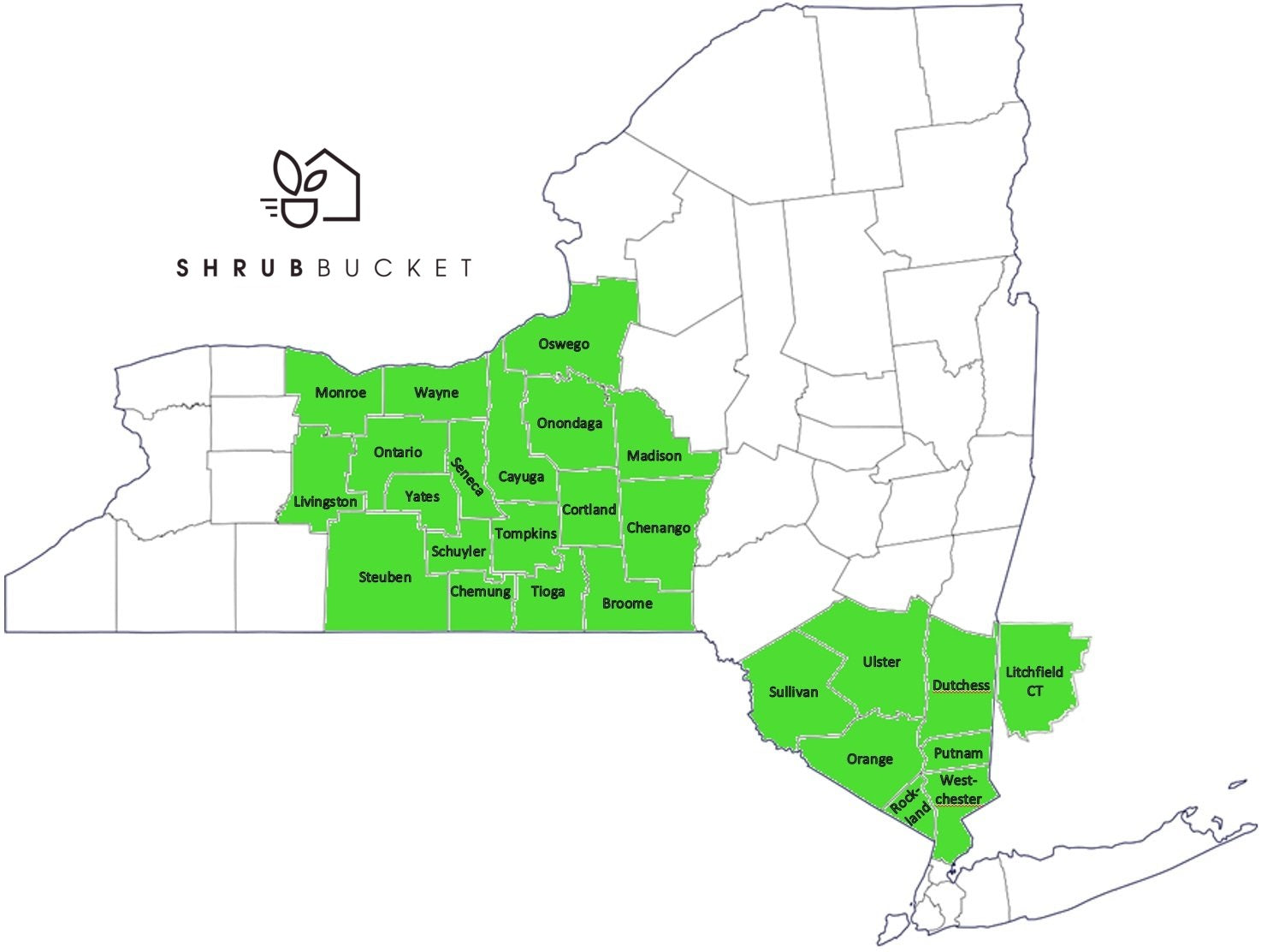 ShrubBucket Delivery Map