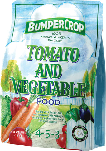 BUMPER CROP TOMATO AND VEGETABLE PLANT FOOD 4-5-3