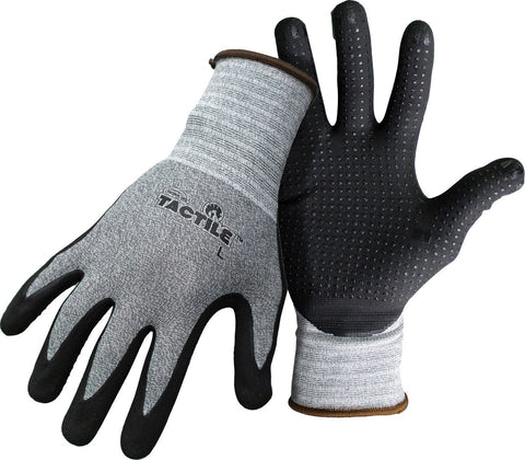 BOSS TACTILE DOTTED DIPPED NITRILE PALM GLOVE