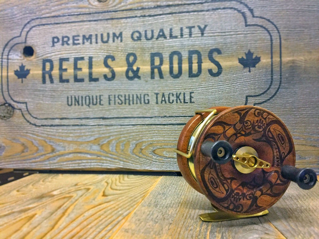 "4 Inch ""Sisiutl"" Artist Series Reel with 10'6""/2pc Medium Rod"