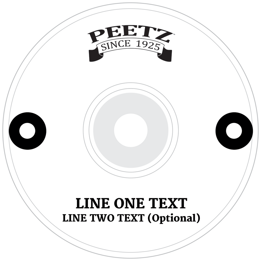 PEETZ Fishing Reels - Custom Text Example