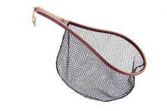 "Rushton ""Black Water"" teardrop landing net features a 9 1/2"" x 15"" hoop."