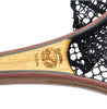 Each net is laser engraved with the Rushton Net logo and the name of the net at the yoke of the handle.