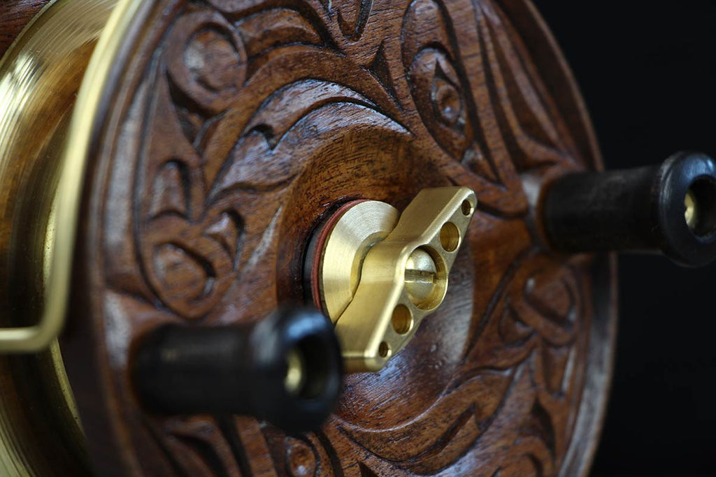 """Circle of Life"" Limited Edition Hand Carved Fishing Reel by Jason Henry Hunt"