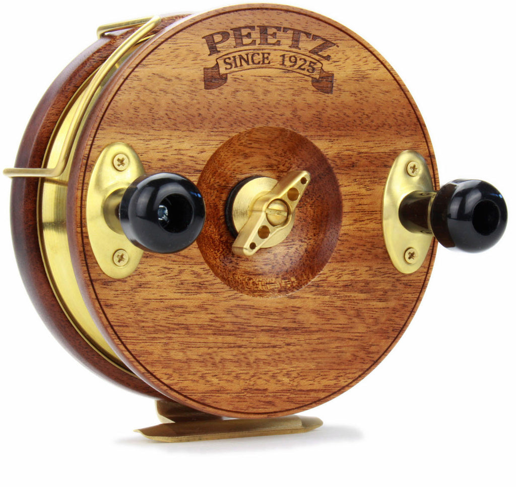"6"" PEETZ Evolution fishing reel - no reel face artwork"