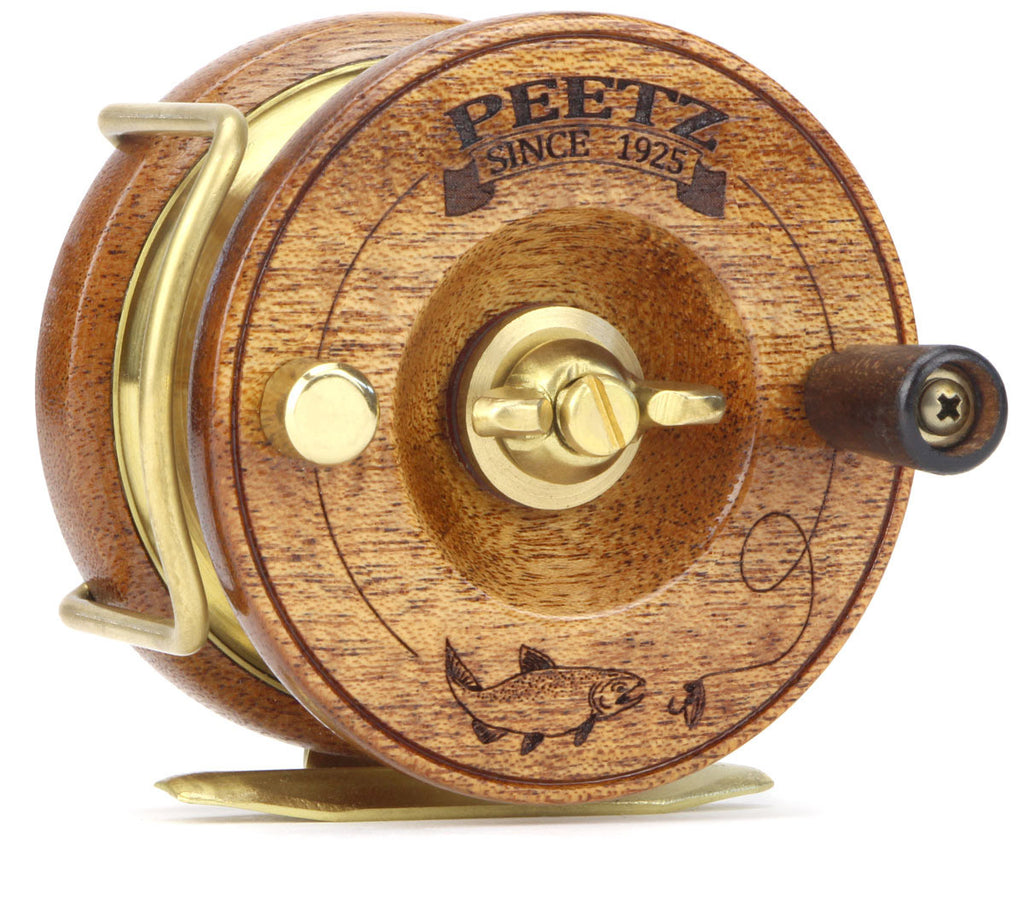 "PEETZ 3"" Fly Reel with Engraved Fish Artwork"