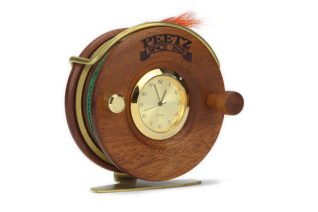 Fly Fishing Desk Clock Front