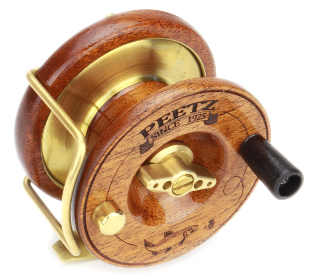 3 peetz wooden fly fishing reel peetz outdoors for Fly fishing reel reviews